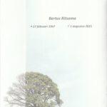 Rouwkaart Bertus Ritsema